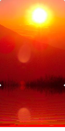 Meditace na zapadající slunce