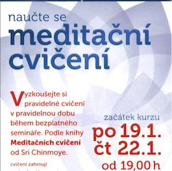 Seminář meditačních cvičení
